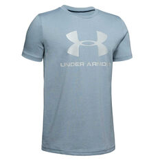 Under Armour Boys Sportstyle Logo Tee Grey M, Grey, rebel_hi-res