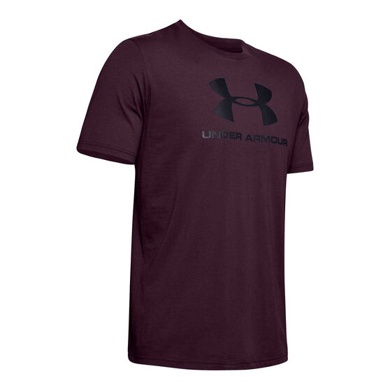 Under Armour Mens Sportstyle Logo Tee Purple S, Purple, rebel_hi-res