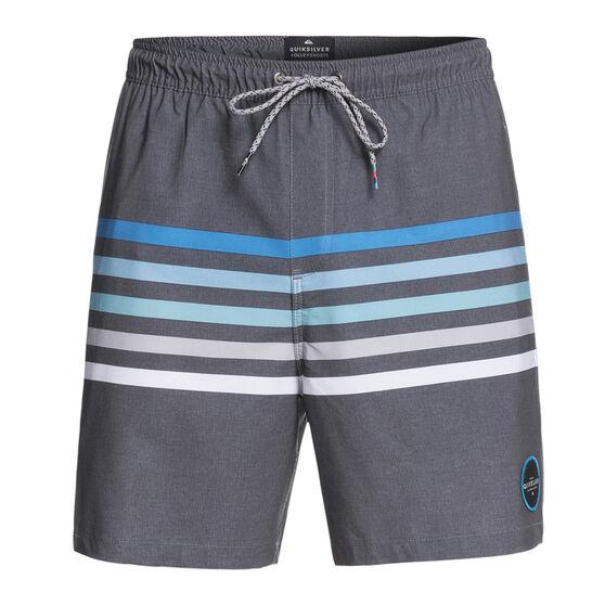 Quiksilver Mens Seasons Volley Board Shorts Grey XL, Grey, rebel_hi-res
