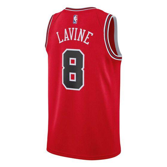Nike Chicago Bulls Zach LaVine 2019 Mens Swingman Jersey, University Red, rebel_hi-res