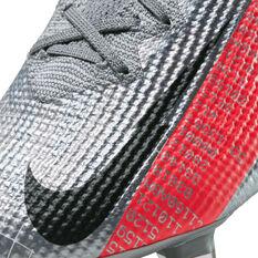 Nike Mercurial Vapor XIII Elite Football Boots, Silver/Red, rebel_hi-res