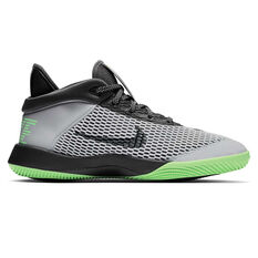 Nike Future Flight Kids Basketball Shoes Grey / Black US 1, Grey / Black, rebel_hi-res