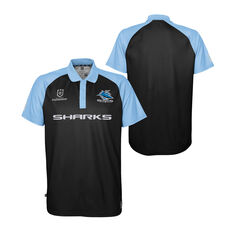 Cronulla-Sutherland Sharks 2021 Mens Polo, Black, rebel_hi-res