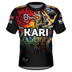 NRL Indigenous All Stars Mens 2021 Jersey Black S, Black, rebel_hi-res