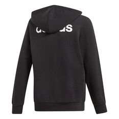 adidas Boys Essentials Linear Full Zip Hoodie Black / White 4, Black / White, rebel_hi-res