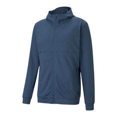 Puma Mens Training Concept Full Length Zip Jacket Blue XS, Blue, rebel_hi-res