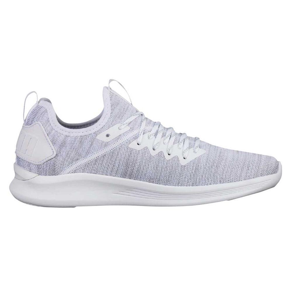 cb9d532f5c2606 Puma Ignite Flash evoKNIT Mens Casual Shoes White US 13