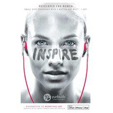 Yurbuds Inspire Pro Womens Headphones Pink, , rebel_hi-res