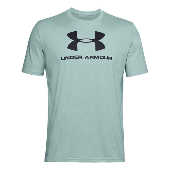 Under Armour Mens Sportstyle Logo Tee, Blue, rebel_hi-res