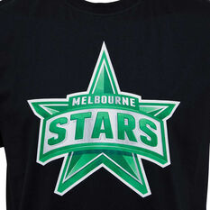 Melbourne Stars 2019/20 Mens Supporter Tee Black S, Black, rebel_hi-res