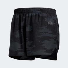 adidas Mens Response Split  Running Shorts Grey S, Grey, rebel_hi-res