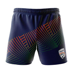 Adelaide United 2018/19 Mens  Geo Squad Training Shorts Navy S, Navy, rebel_hi-res
