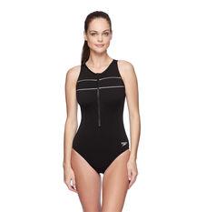 Speedo Womens Spirit Turbo Swimsuit Black/White 14 14, , rebel_hi-res