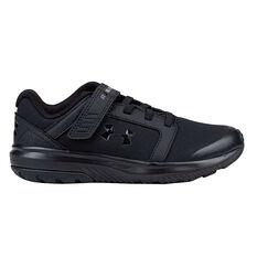 Under Armour Unlimited Uniform Kids Running Shoes Black US 11, Black, rebel_hi-res