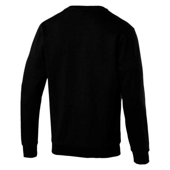 Puma Mens Essentials Big Logo Fleece Sweatshirt, Black, rebel_hi-res