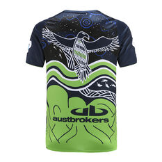 Canberra Raiders 2021 Mens Indigenous Run Out Tee, Blue, rebel_hi-res
