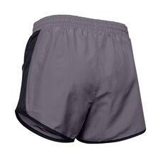 Under Armour Fly By Running Shorts Grey XS, Grey, rebel_hi-res
