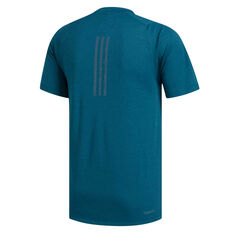 adidas Mens FreeLift Climachill 3 Stripes Tee Blue XS, Blue, rebel_hi-res