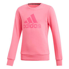 adidas Girls Must Haves Badge of Sport Sweatshirt Pink 6, Pink, rebel_hi-res