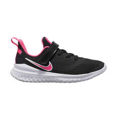 Nike Renew Rival 2 Kids Running Shoes Black / Pink US 11, Black / Pink, rebel_hi-res
