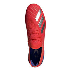 adidas X 18.1 Mens Football Boots, Red / Silver, rebel_hi-res
