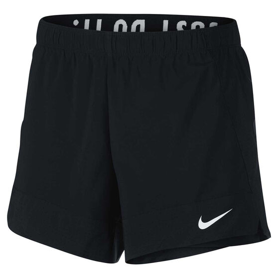 Nike Womens Flex 2 in 1 Shorts Black XL, Black, rebel_hi-res
