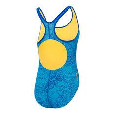 ... Speedo Girls Boom Splashback One-Piece Swimsuit Blue 6 8a23dc482fa0