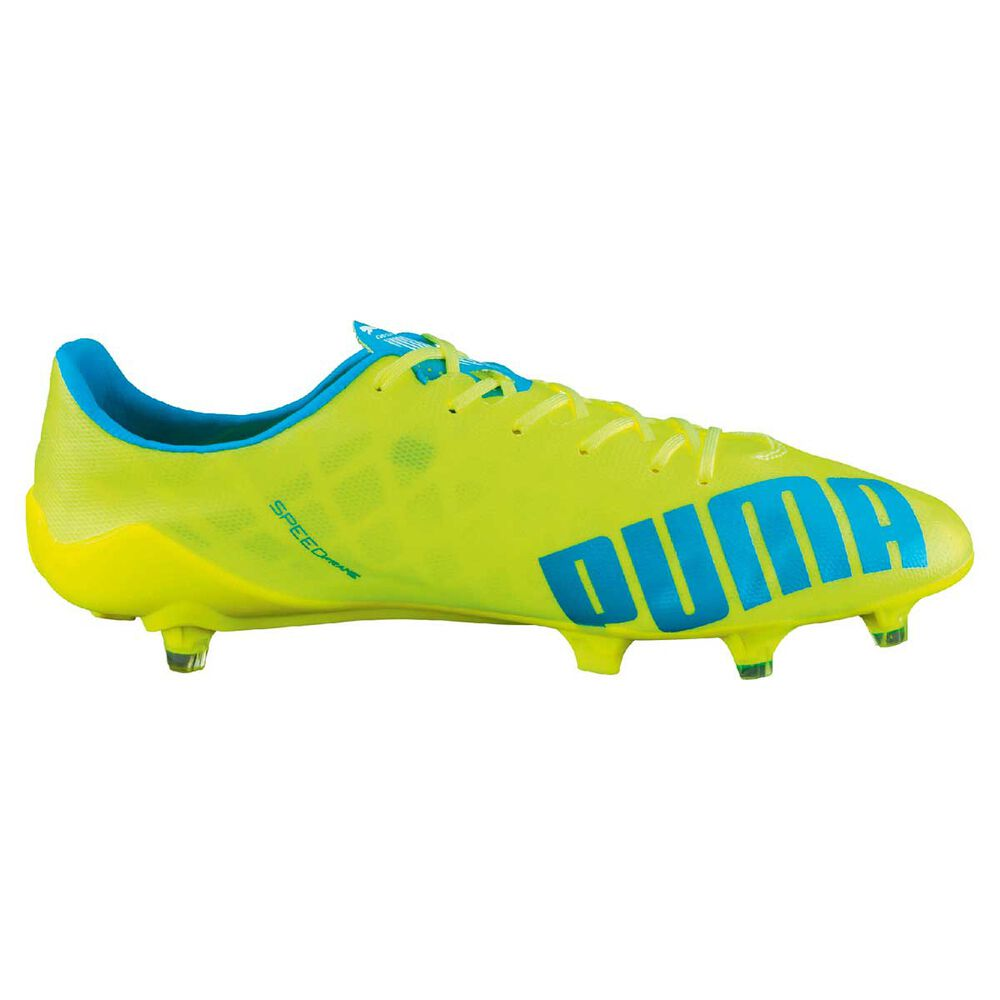 1f04d5598fa1 Puma evoSPEED SL Mens Football Boots Fluro Yellow US 9 Adult