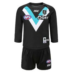 Port Adelaide 2020 Infant Home Guernsey Black 1, Black, rebel_hi-res