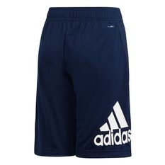 adidas Boys Equip Knit Shorts Navy / White 6, Navy / White, rebel_hi-res
