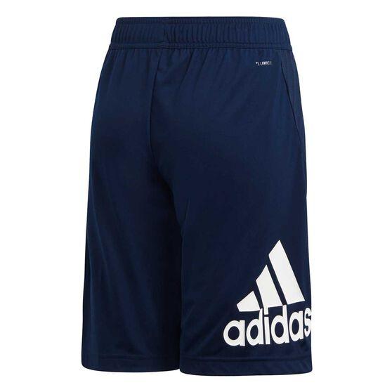 adidas Boys Equip Knit Shorts, Navy / White, rebel_hi-res
