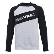 Under Armour Boys Graphic Hoodie Grey XS, Grey, rebel_hi-res