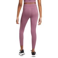 Nike Pro Womens 7/8 Tights Pink XS, Pink, rebel_hi-res