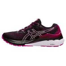 Asics GEL Kayano 28 Womens Running Shoes Black/Pink US 6, Black/Pink, rebel_hi-res