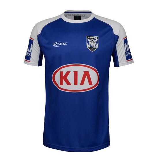 Canterbury-Bankstown Bulldogs 2019 Mens Training Tee, Blue / White, rebel_hi-res