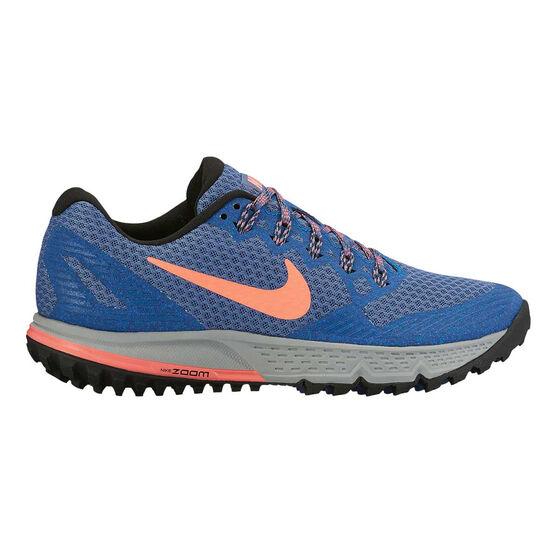 c05d4a8fc5a6 Nike Wildhorse 3 Womens Trail Running Shoes Blue   Orange US 6 ...