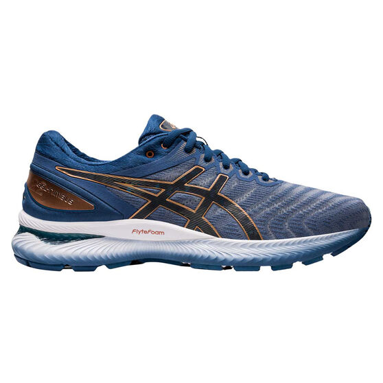 Asics GEL Nimbus 22 Mens Running Shoes, Blue / Grey, rebel_hi-res