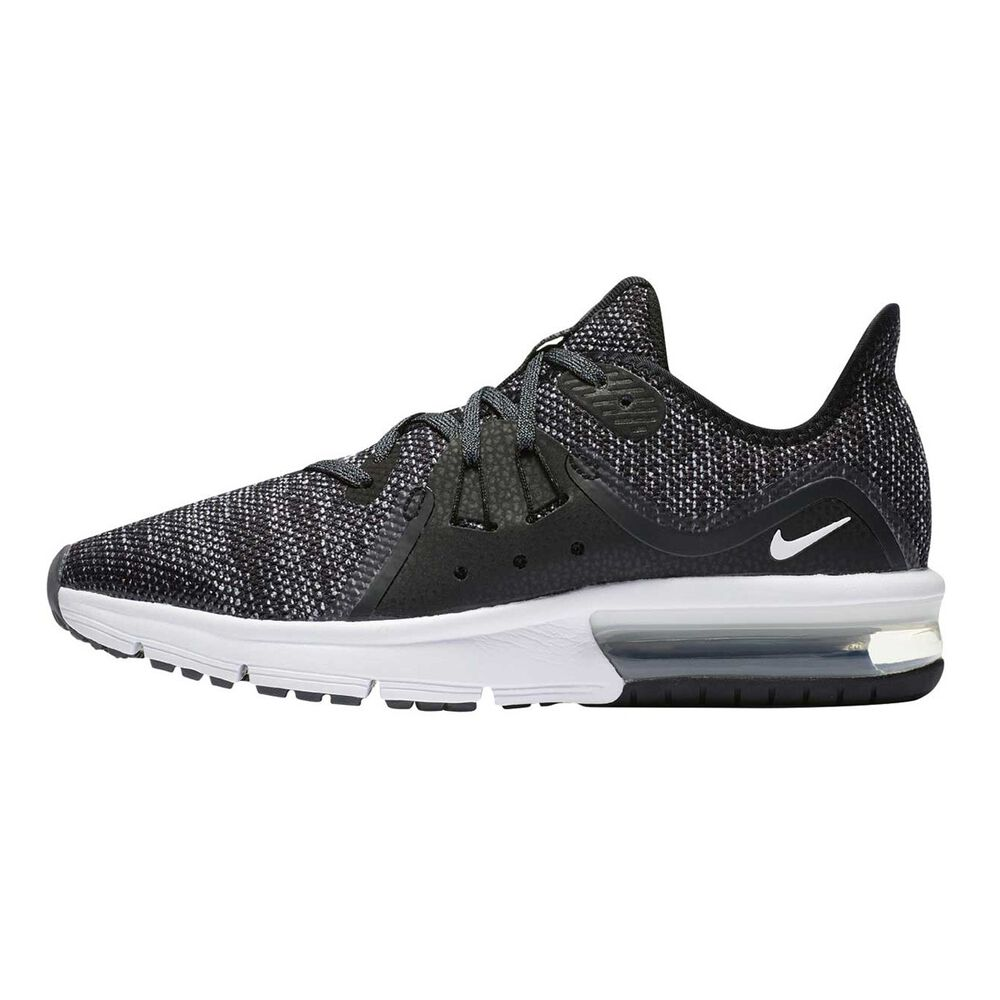 37d94956d3283 Nike Air Max Sequent 3 Boys Running Shoes Black   White US 6