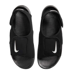 Nike Sunray Adjust 5 V2 Kids Sandals Black US 11, Black, rebel_hi-res