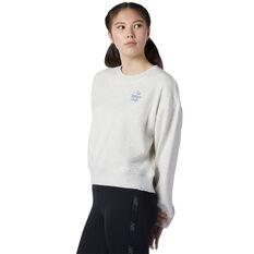 New Balance Womens Athletics Intelligent Choice Sweatshirt Grey XS, Grey, rebel_hi-res