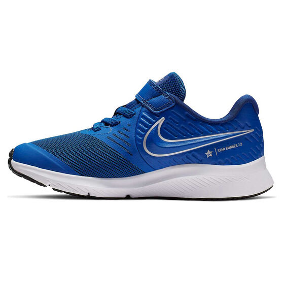 Nike Star Runner 2 Kids Running Shoes Blue / White US 11, Blue / White, rebel_hi-res