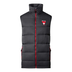Sydney Swans 2020 Mens Down Vest Grey S, Grey, rebel_hi-res