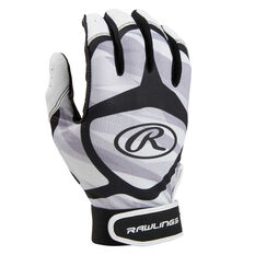 Rawlings Youth Baseball Batting Gloves Grey / Black S, Grey / Black, rebel_hi-res