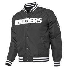 Las Vegas Raiders Mens Bomber Jacket Black S, Black, rebel_hi-res