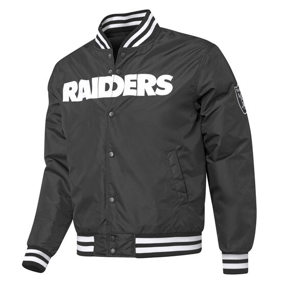 Las Vegas Raiders Mens Bomber Jacket, Black, rebel_hi-res