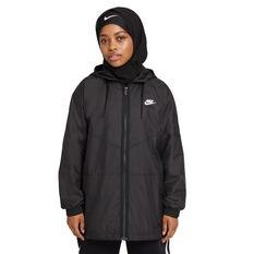 Nike Womens Sportswear Repel Windrunner Black XS, Black, rebel_hi-res