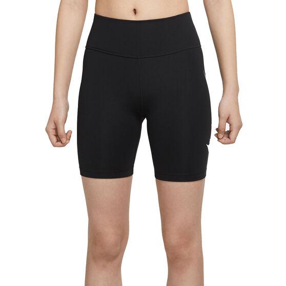 Nike Womens Swoosh Run 7 Inch Tights, Black, rebel_hi-res