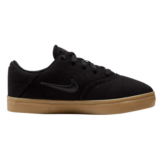 Nike SB Check Canvas Kids Skateboarding Shoes US 12 Black / Gum, , rebel_hi-res