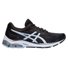 Asics GEL Pulse 11 D Womens Running Shoes Black/Grey US 6, Black/Grey, rebel_hi-res