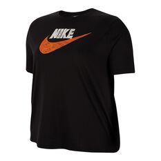 Nike Womens Icon Clash Tee Plus Black XL, Black, rebel_hi-res
